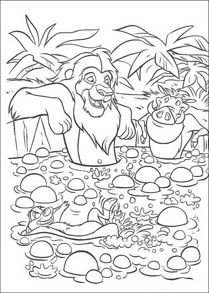 Kleurplaten Leeuwenkoning 2.Kleurplaten Lion King
