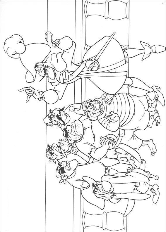 Kleurplaten Peter Pan En Tinkerbell.Peter Pan
